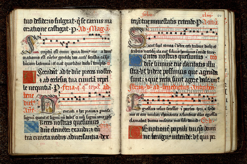 Paris, Bibl. Mazarine, ms. 0445, f. 043v-044
