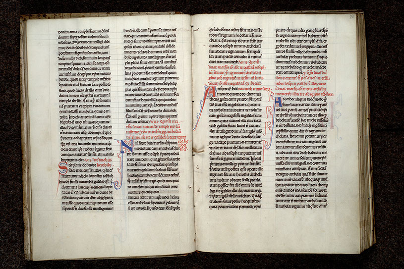 Paris, Bibl. Mazarine, ms. 0605, f. 020v-021