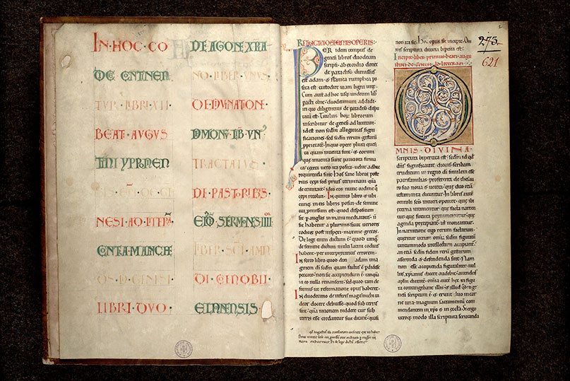 Paris, Bibl. Mazarine, ms. 0621, f. 001v-002