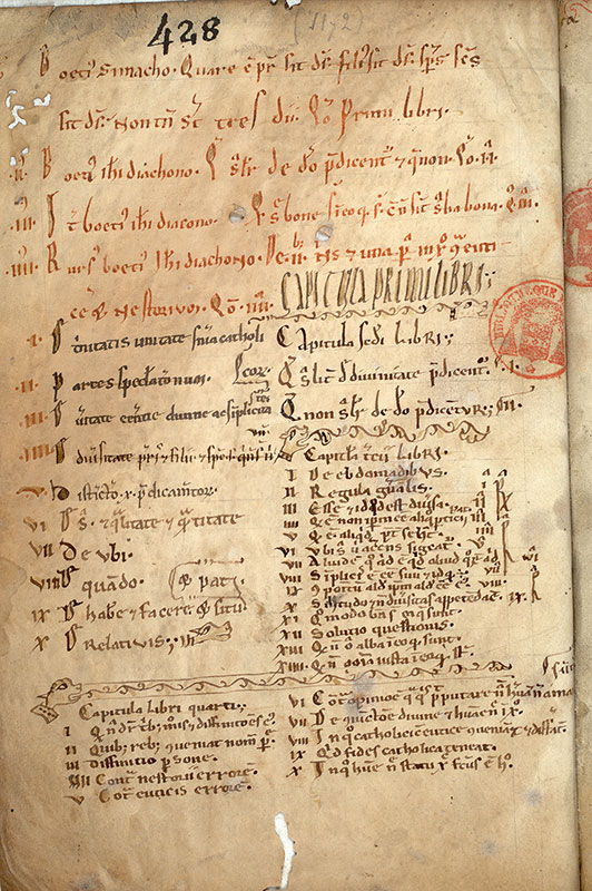 Paris, Bibl. Mazarine, ms. 0657, f. 001v
