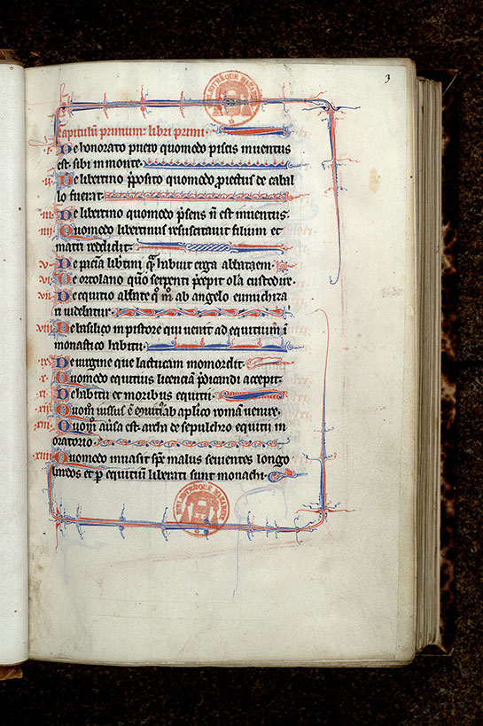 Paris, Bibl. Mazarine, ms. 0677, f. 003