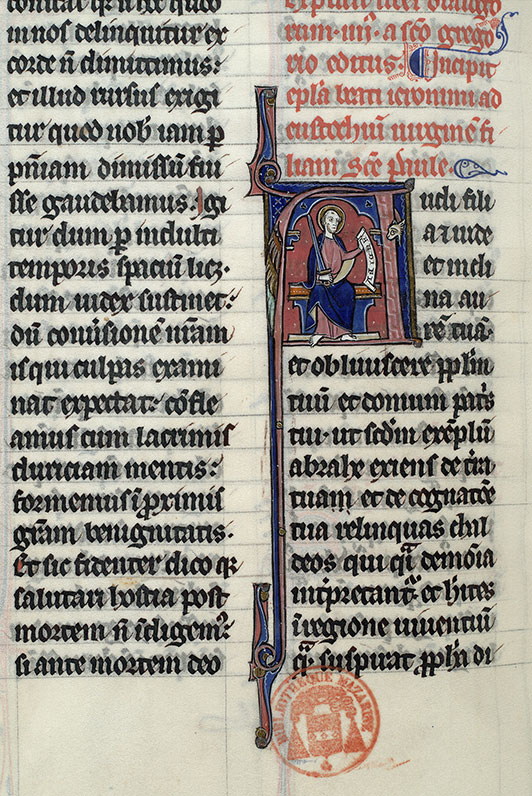 Paris, Bibl. Mazarine, ms. 0677, f. 210v