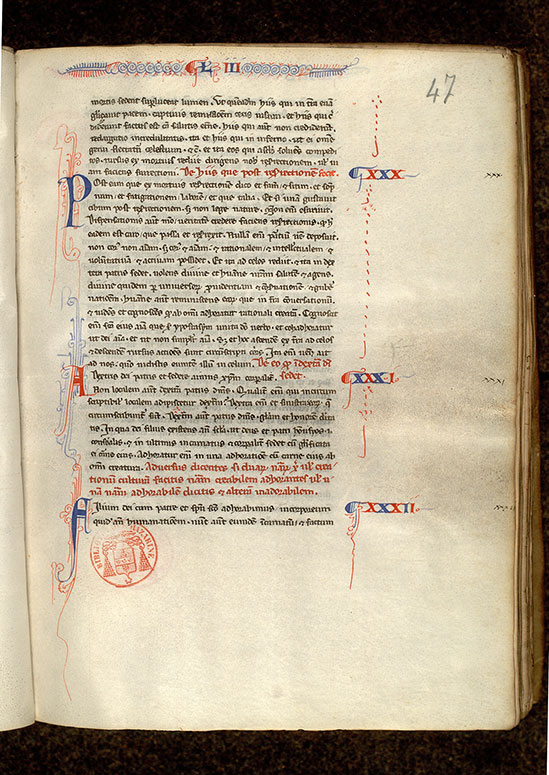 Paris, Bibl. Mazarine, ms. 0711, f. 047