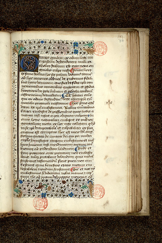Paris, Bibl. Mazarine, ms. 0967, f. 037