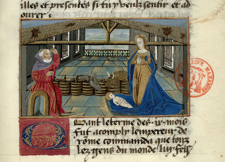 Paris, Bibl. Mazarine, ms. 0976, f. 014
