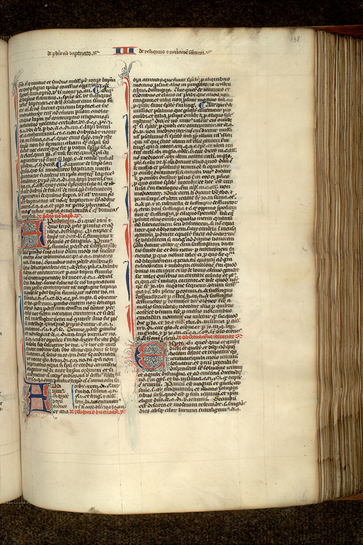 Paris, Bibl. Mazarine, ms. 1333, f. 138