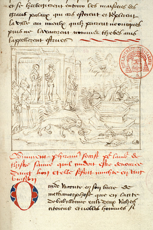 Paris, Bibl. Mazarine, ms. 1562, f. 181