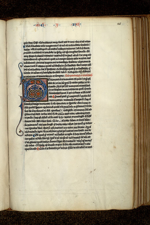 Paris, Bibl. Mazarine, ms. 3458, f. 186