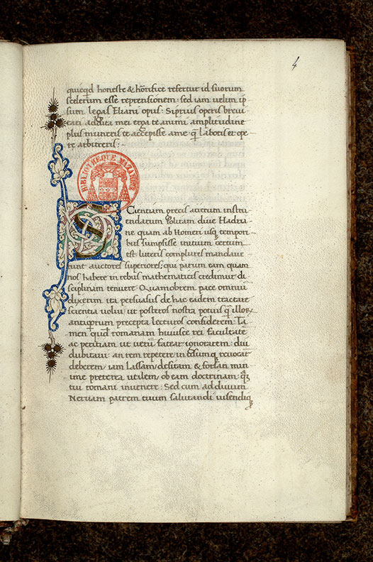 Paris, Bibl. Mazarine, ms. 3732, f. 004