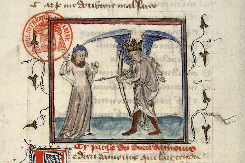 Paris, Bibl. Mazarine, ms. 3872, f. 002v
