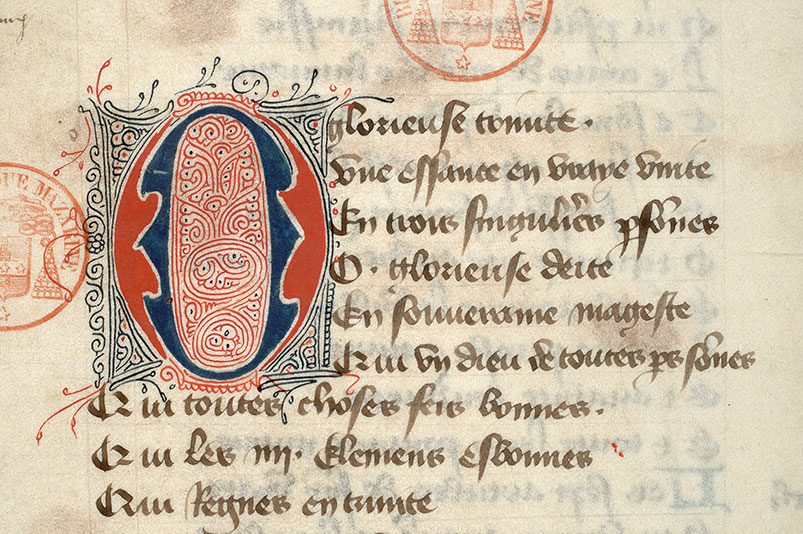 Paris, Bibl. Mazarine, ms. 3872, f. 185