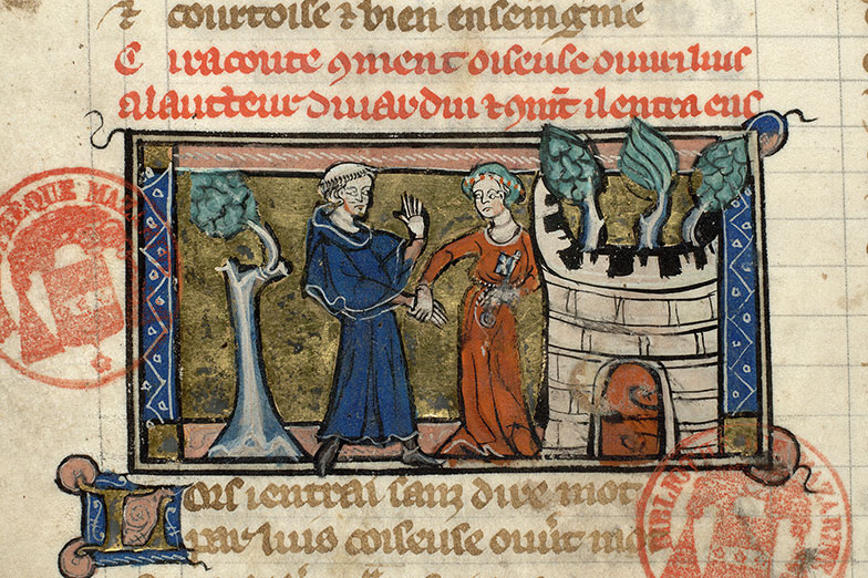 Paris, Bibl. Mazarine, ms. 3873, f. 005v