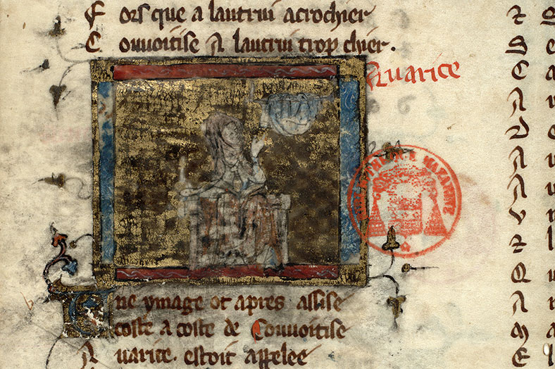 Paris, Bibl. Mazarine, ms. 3874, f. 004v