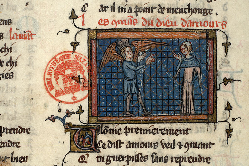 Paris, Bibl. Mazarine, ms. 3874, f. 017