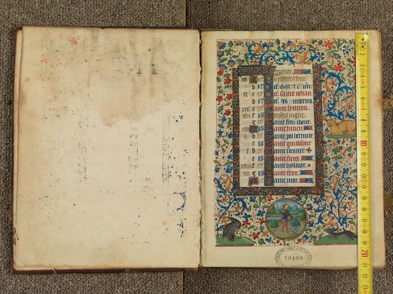 PARIS, Bibliothèque de l'Ecole des Beaux-Arts, Ms. 0482, f. 000Av - 001 avec réglet