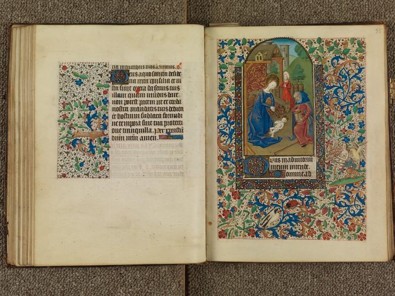 PARIS, Bibliothèque de l'Ecole des Beaux-Arts, Ms. 0482, f. 054v - 055