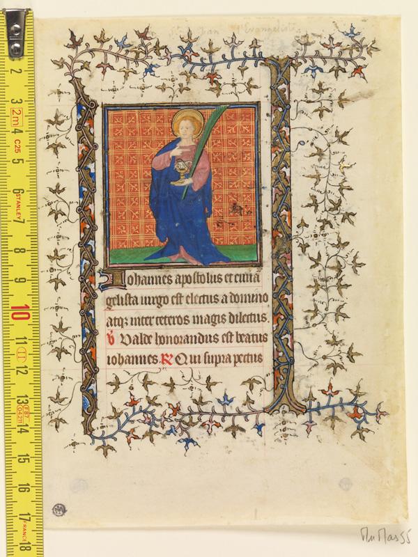 PARIS, Bibliothèque de l'Ecole des Beaux-Arts, Mn.Mas 0055, vue 1 avec réglet