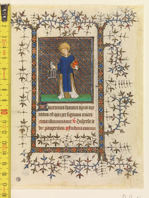 PARIS, Bibliothèque de l'Ecole des Beaux-Arts, Mn.Mas 0056, vue 1 avec réglet