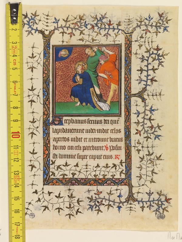 PARIS, Bibliothèque de l'Ecole des Beaux-Arts, Mn.Mas 0057, vue 1 avec réglet