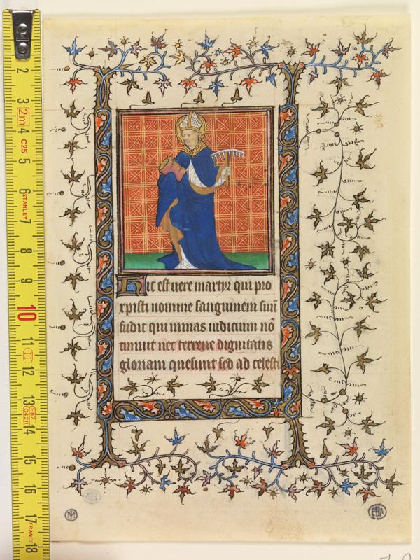 PARIS, Bibliothèque de l'Ecole des Beaux-Arts, Mn.Mas 0058, vue 1 avec réglet