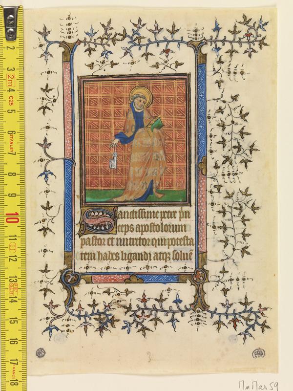PARIS, Bibliothèque de l'Ecole des Beaux-Arts, Mn.Mas 0059, vue 1 avec réglet