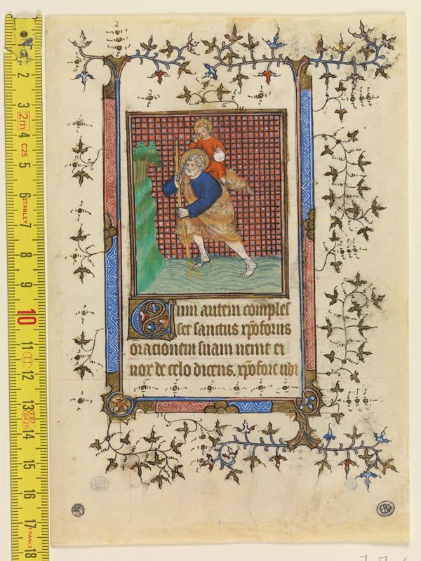 PARIS, Bibliothèque de l'Ecole des Beaux-Arts, Mn.Mas 0060, vue 1 avec réglet