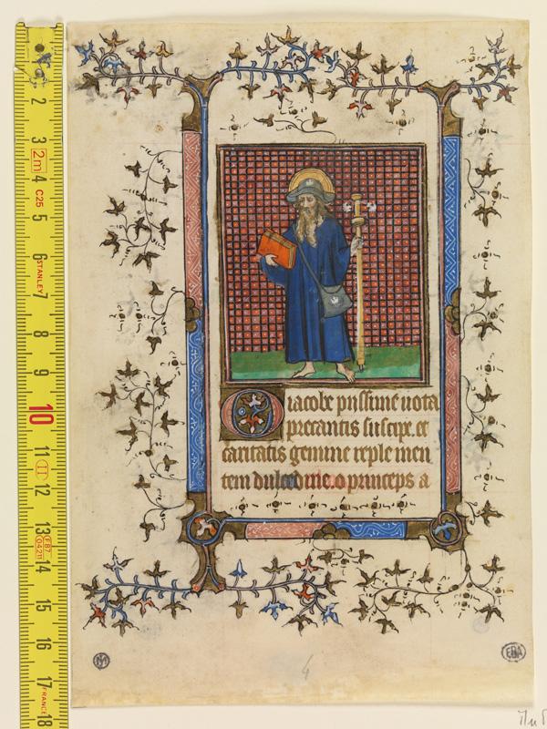 PARIS, Bibliothèque de l'Ecole des Beaux-Arts, Mn.Mas 0061, vue 1 avec réglet