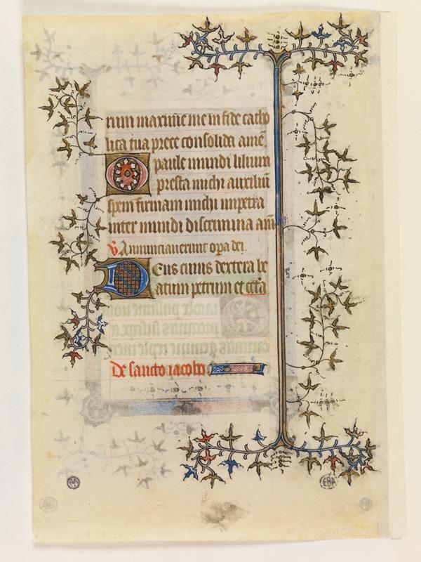 PARIS, Bibliothèque de l'Ecole des Beaux-Arts, Mn.Mas 0061, vue 2 (recto
