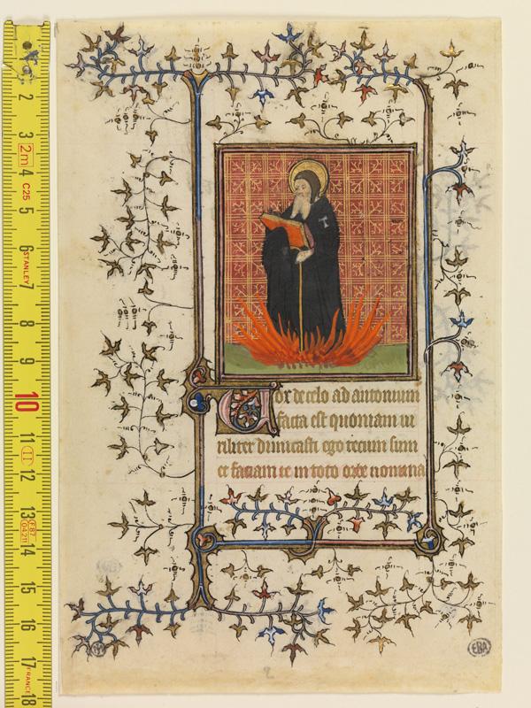 PARIS, Bibliothèque de l'Ecole des Beaux-Arts, Mn.Mas 0062, vue 1 avec réglet