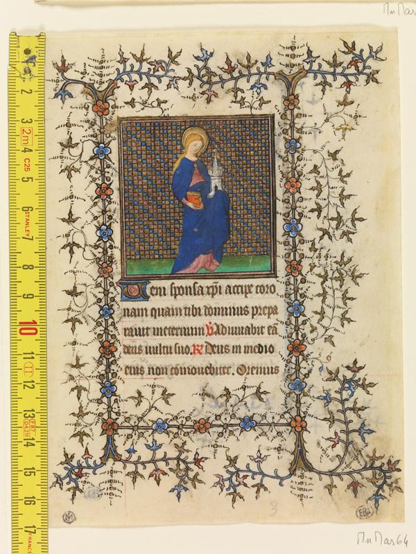 PARIS, Bibliothèque de l'Ecole des Beaux-Arts, Mn.Mas 0064, vue 1 avec réglet