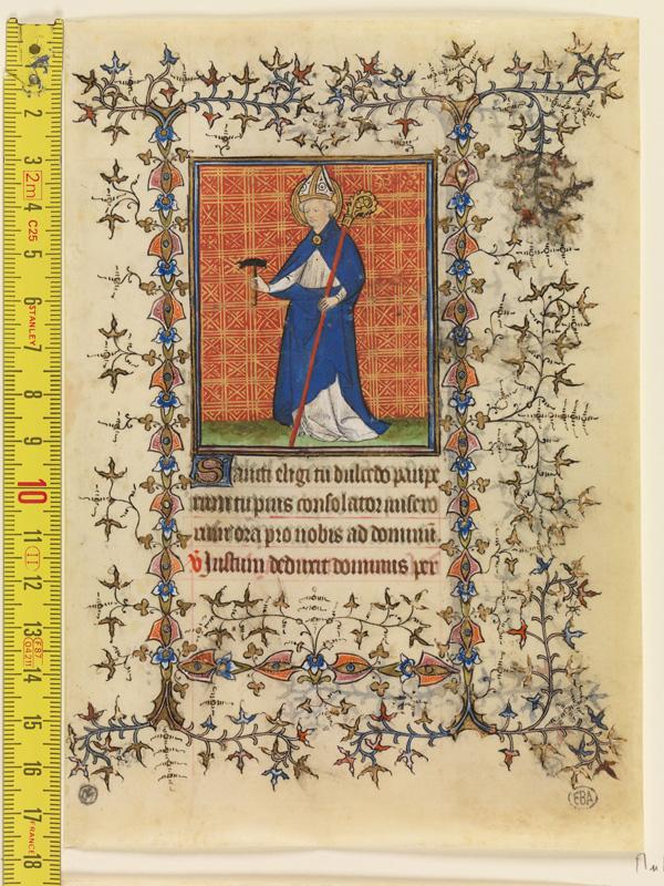 PARIS, Bibliothèque de l'Ecole des Beaux-Arts, Mn.Mas 0065, vue 1 avec réglet