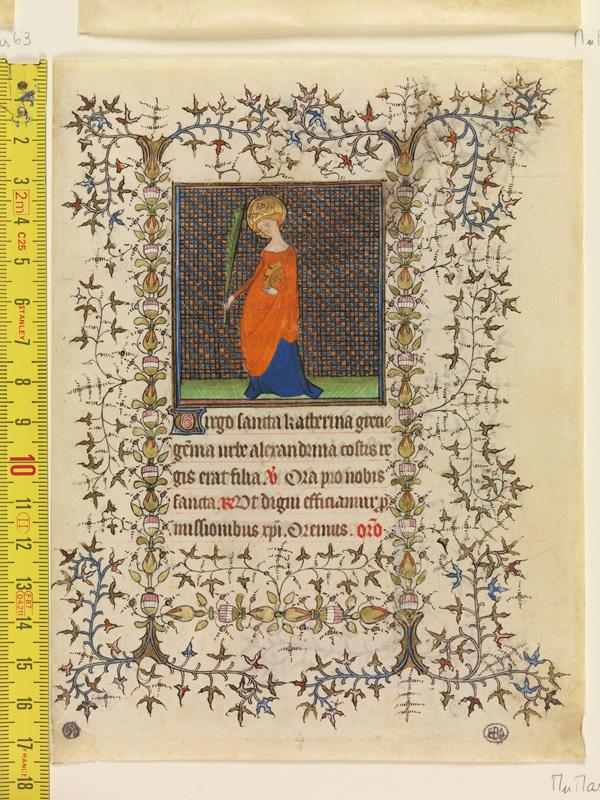 PARIS, Bibliothèque de l'Ecole des Beaux-Arts, Mn.Mas 0066, vue 1 avec réglet