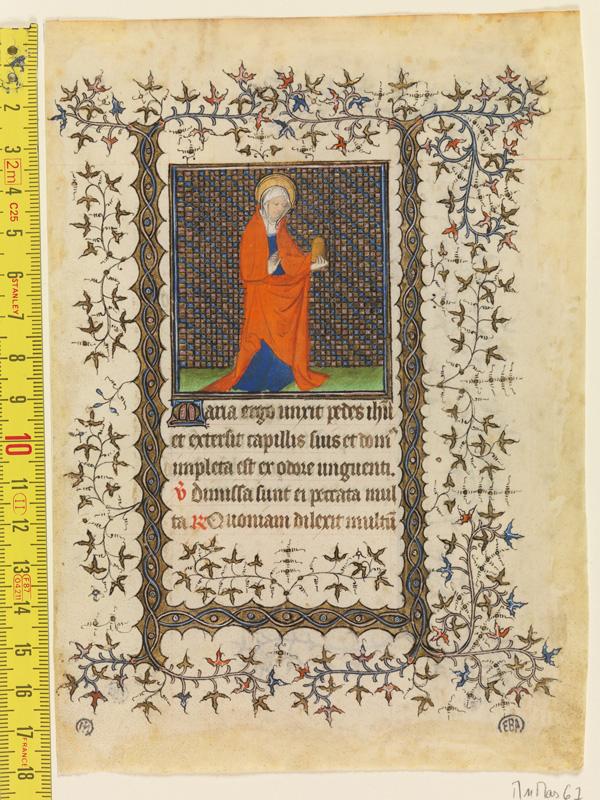 PARIS, Bibliothèque de l'Ecole des Beaux-Arts, Mn.Mas 0067, vue 1 avec réglet