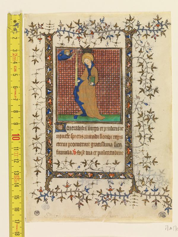 PARIS, Bibliothèque de l'Ecole des Beaux-Arts, Mn.Mas 0069, vue 1 avec réglet