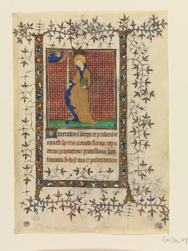PARIS, Bibliothèque de l'Ecole des Beaux-Arts, Mn.Mas 0069, vue 1
