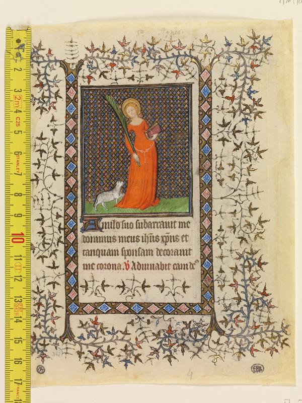 PARIS, Bibliothèque de l'Ecole des Beaux-Arts, Mn.Mas 0070, vue 1 avec réglet