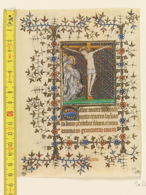 PARIS, Bibliothèque de l'Ecole des Beaux-Arts, Mn.Mas 0071, vue 1 avec réglet