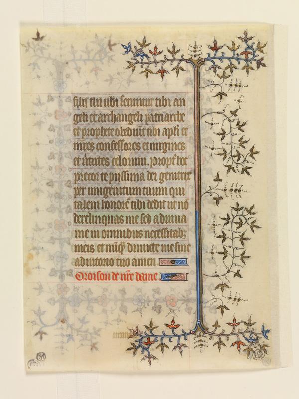 PARIS, Bibliothèque de l'Ecole des Beaux-Arts, Mn.Mas 0071, vue 2 (recto)