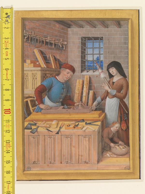 PARIS, Bibliothèque de l'Ecole des Beaux-Arts, Mn.Mas 0092, vue 1 avec réglet