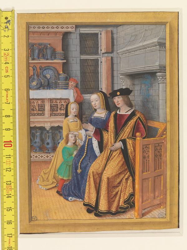 PARIS, Bibliothèque de l'Ecole des Beaux-Arts, Mn.Mas 0093, vue 1 avec réglet