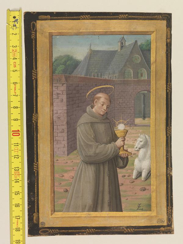 PARIS, Bibliothèque de l'Ecole des Beaux-Arts, Mn.Mas 0094, vue 1 avec réglet