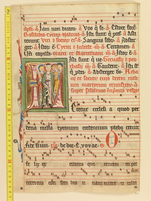 PARIS, Bibliothèque de l'Ecole des Beaux-Arts, Mn.Mas 0111, vue 1 avec réglet