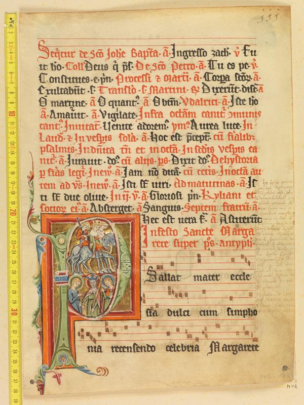 PARIS, Bibliothèque de l'Ecole des Beaux-Arts, Mn.Mas 0112, vue 1 avec réglet