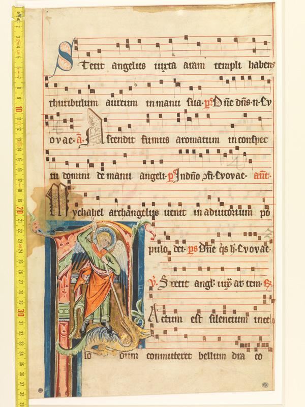 PARIS, Bibliothèque de l'Ecole des Beaux-Arts, Mn.Mas 0120, vue 1 avec réglet