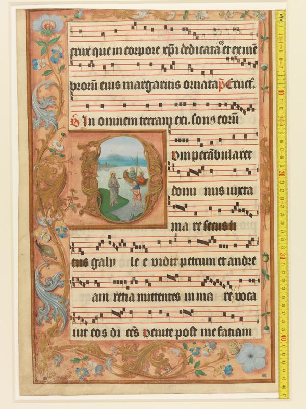 PARIS, Bibliothèque de l'Ecole des Beaux-Arts, Mn.Mas 0122, vue 1 avec réglet