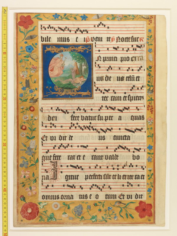 PARIS, Bibliothèque de l'Ecole des Beaux-Arts, Mn.Mas 0124, vue 1 avec réglet