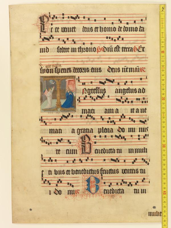 PARIS, Bibliothèque de l'Ecole des Beaux-Arts, Mn.Mas 0126, vue 1 avec réglet