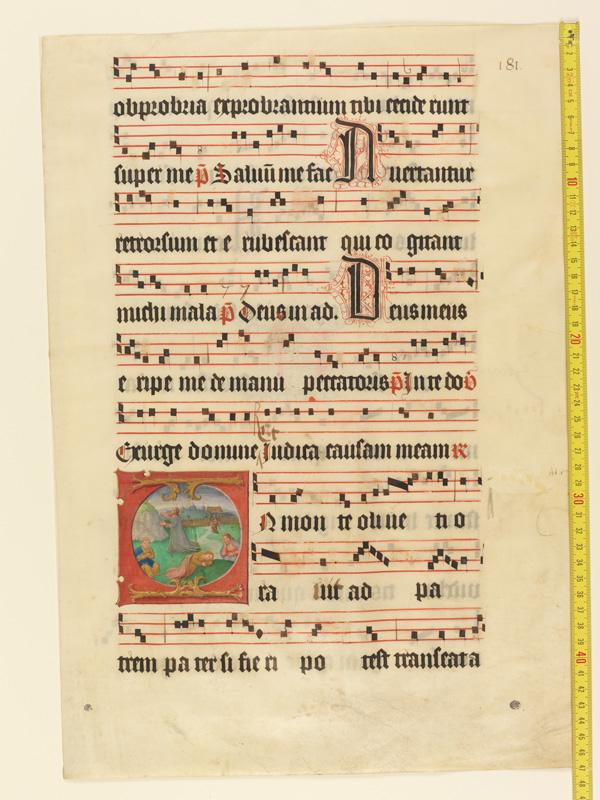 PARIS, Bibliothèque de l'Ecole des Beaux-Arts, Mn.Mas 0127, vue 1 avec réglet