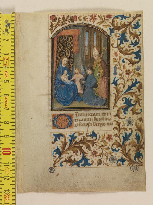 PARIS, Bibliothèque de l'Ecole des Beaux-Arts, Mn.Mas 0130, vue 1 avec réglet