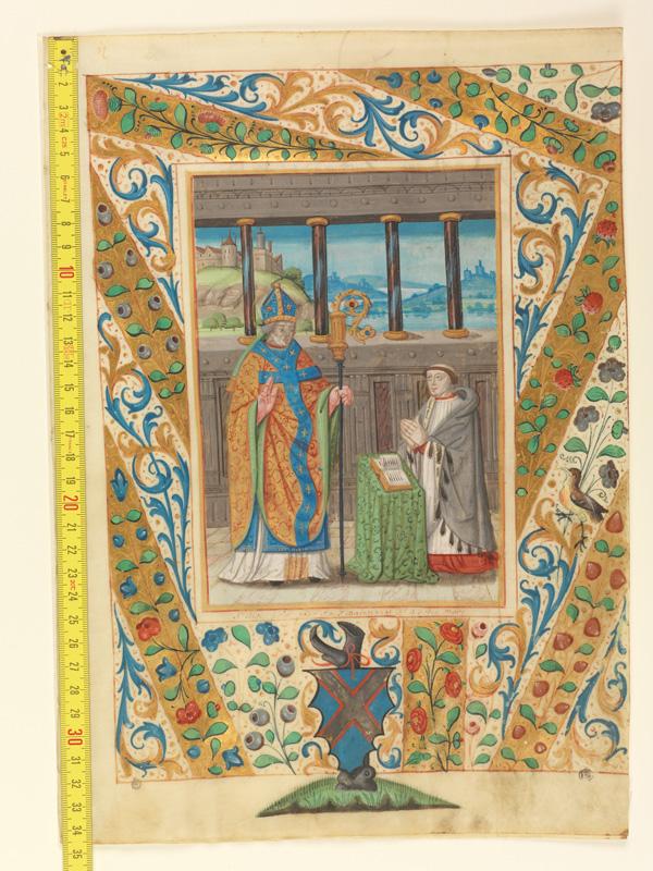 PARIS, Bibliothèque de l'Ecole des Beaux-Arts, Mn.Mas 0135, vue 1 avec réglet